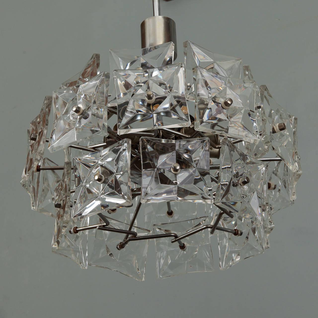 Mid-Century Modern Mid-Century Kinkeldey Three-Tier Round Hanging Light Fixture