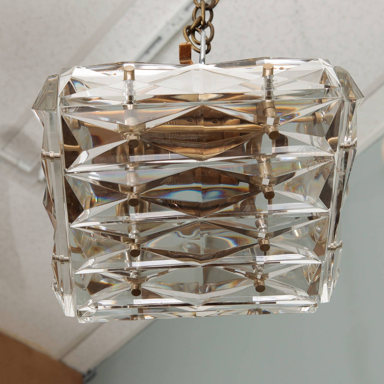 Kindeldey Square Shape Flush Mount or Wall Sconce at 1stdibs