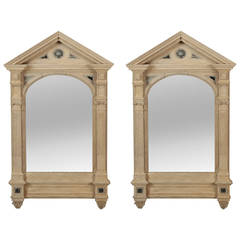 Pair of 19th Century Italian White Painted Mirrors