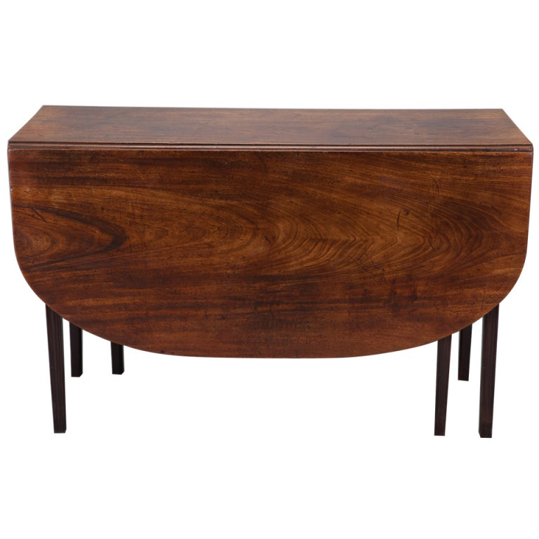 Georgian circa 1825 mahogany drop leaf table for Furniture 1825