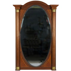 Large Directoire Mirror with Brass Mounts