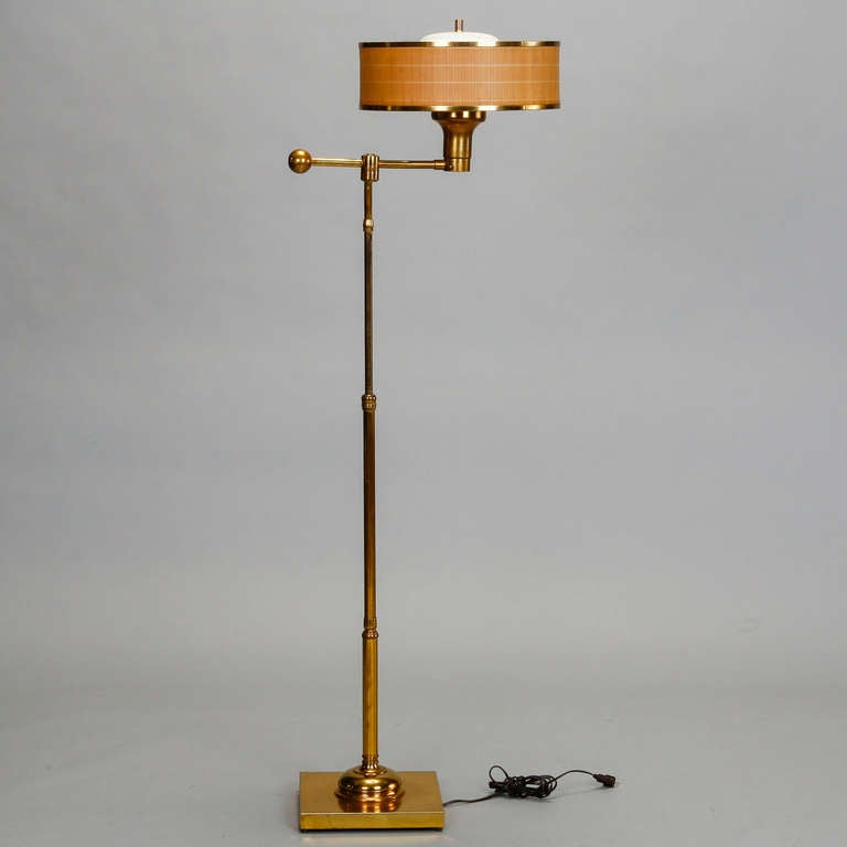 Brass Floor Lamp Mid Century: Mid Century Brass Floor Lamp By Edward Wormley For
