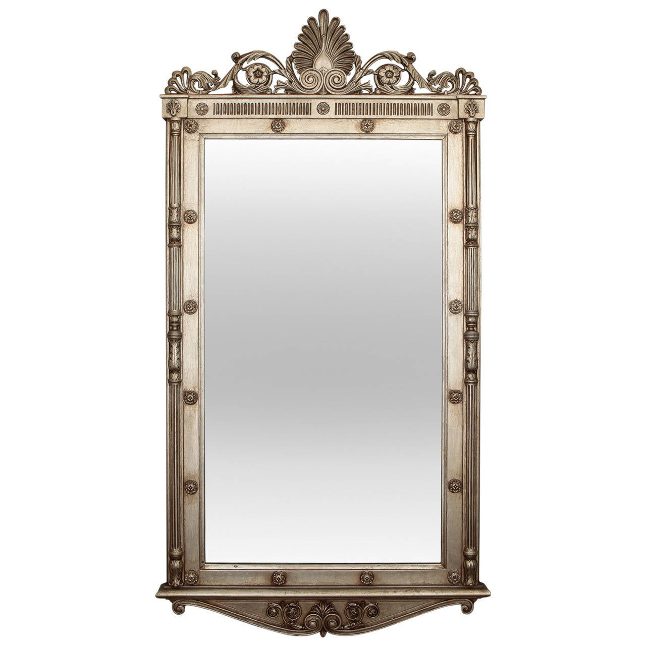 mid century french style silver leaf mirror at 1stdibs