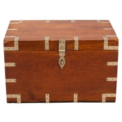 19th Century Brass Bound Military Box With Brass Handles
