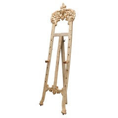 Bleached Black Forrest Carved Tall Easel Stand