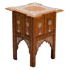 Small Size Square Anglo Indian Moorish Style Table