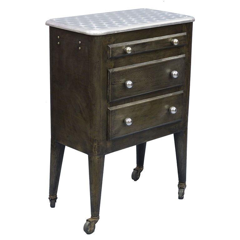 Industrial Coffee Table On Wheels At 1stdibs: Small Industrial Cabinet On Wheels At 1stdibs