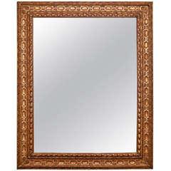 Large Belgian Carved Giltwood Mirror