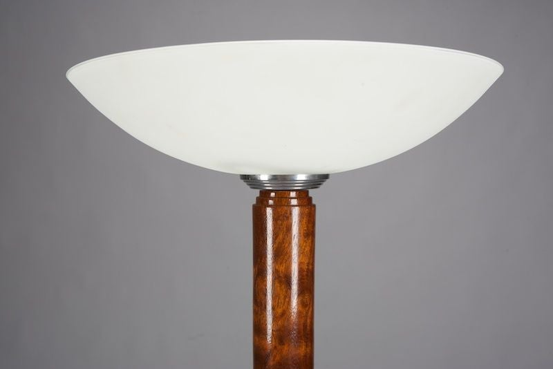 this art deco walnut floor lamp with glass shade is no longer. Black Bedroom Furniture Sets. Home Design Ideas