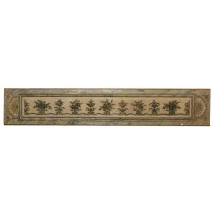 Long Narrow Italian Carved Wood Architectural Piece