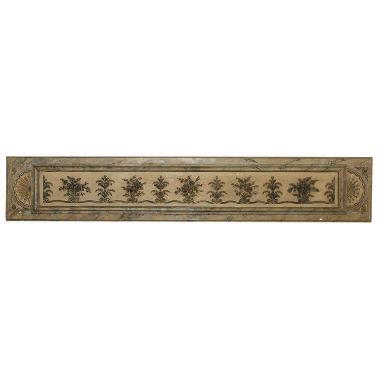 Long Narrow Italian Carved Wood Architectural Piece For Sale