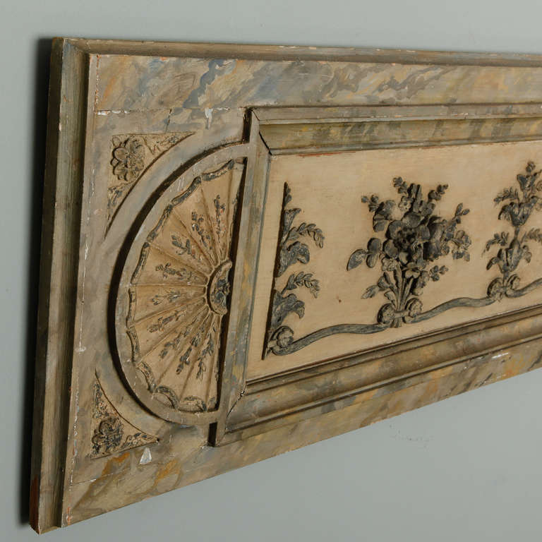 Long Narrow Italian Carved Wood Architectural Piece In Good Condition For Sale In Troy, MI