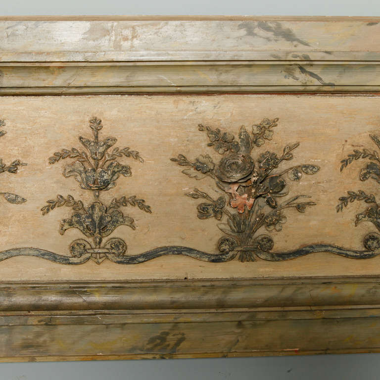 Long Narrow Italian Carved Wood Architectural Piece For Sale 1