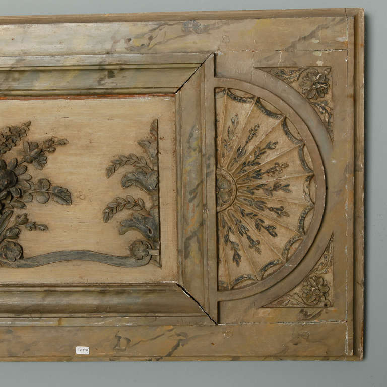 Long Narrow Italian Carved Wood Architectural Piece For Sale 2