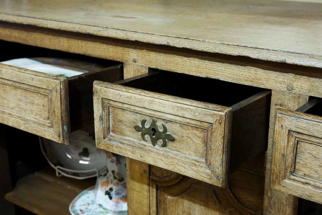 Tall french bleached cabinet at 1stdibs for Bleached maple kitchen cabinets
