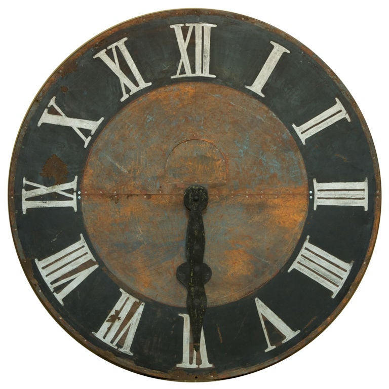 Large French 70 Clock Face At 1stdibs