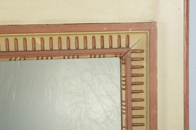 French Beige And Gilded Trumeau Mirror For Sale At 1stdibs