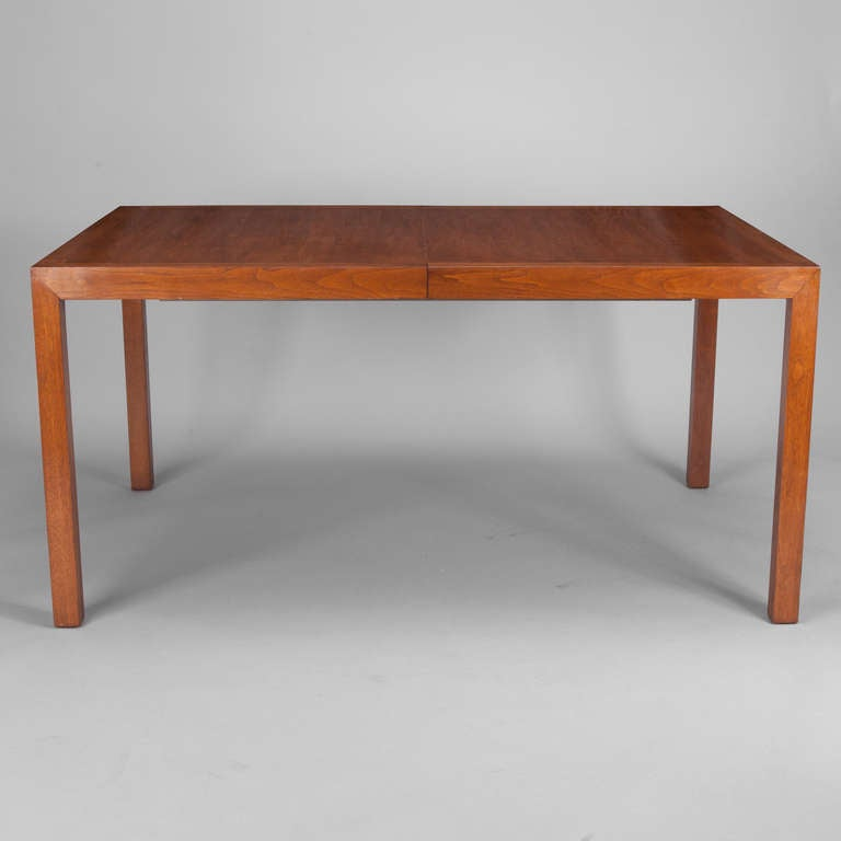 Mid Century Walnut Parsons Table by Edward Wormley for
