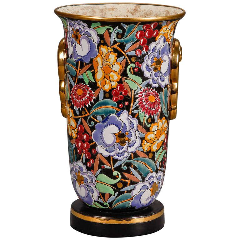 Boch Freres Art Deco Vase Designed By Raymond Chevalier At