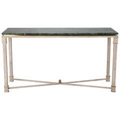 Swedish Style Paint Decorated Marble Top Console With