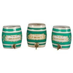 Green and White Ceramic Spirit Jars