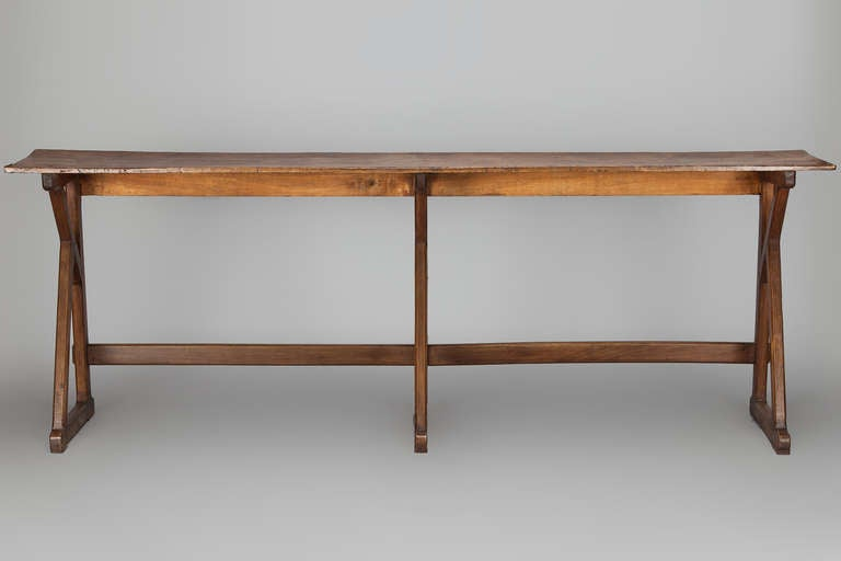 Extra long 19th century french beechwood console at 1stdibs for Extra long console table sale
