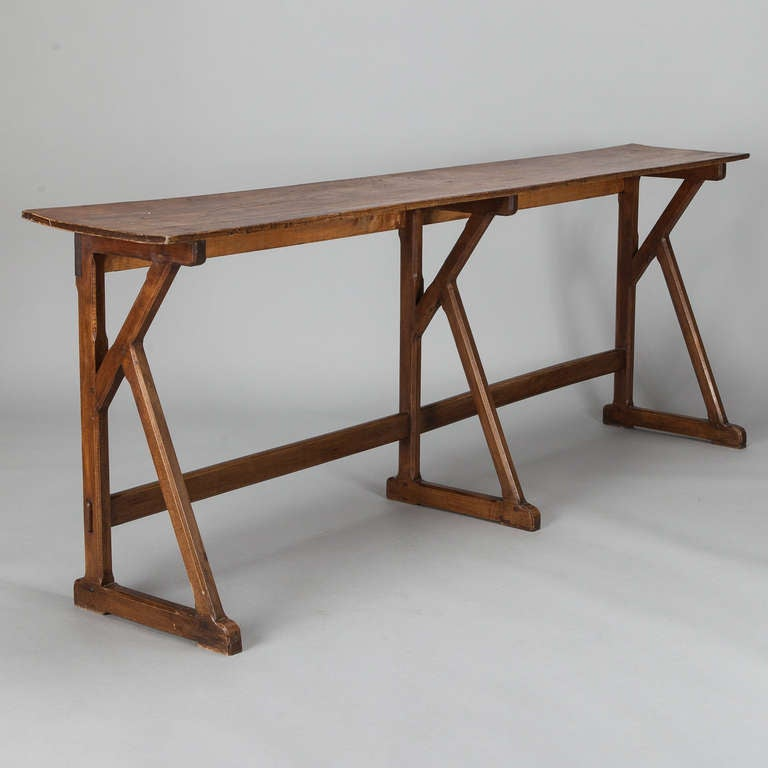 Extra long 19th century french beechwood console at 1stdibs - Extra long narrow console table ...