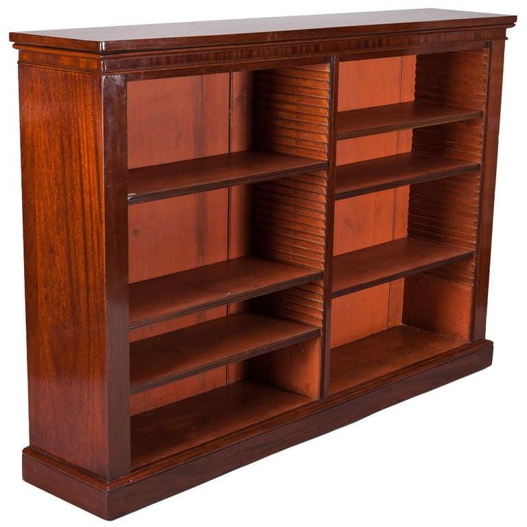 English mahogany bookcase with six adjustable shelves at