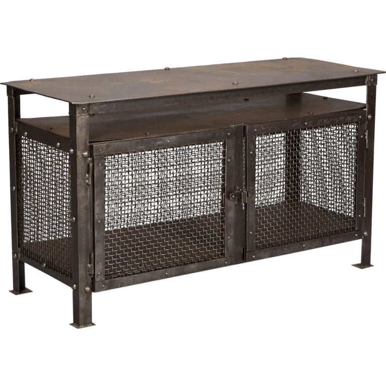 french industrial mesh cabinet at 1stdibs industrial kitchen tables and chairs industrial kitchen tables and chairs