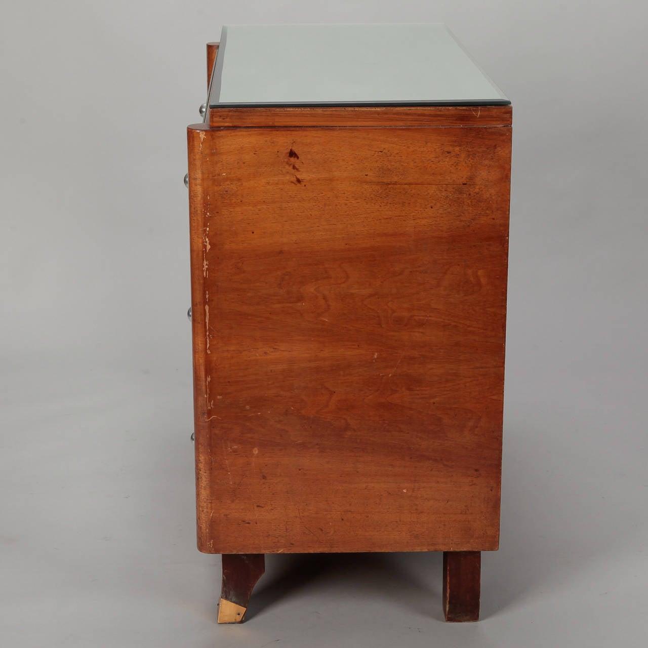 Art Deco Era Mirrored Walnut Chest of Drawers 4