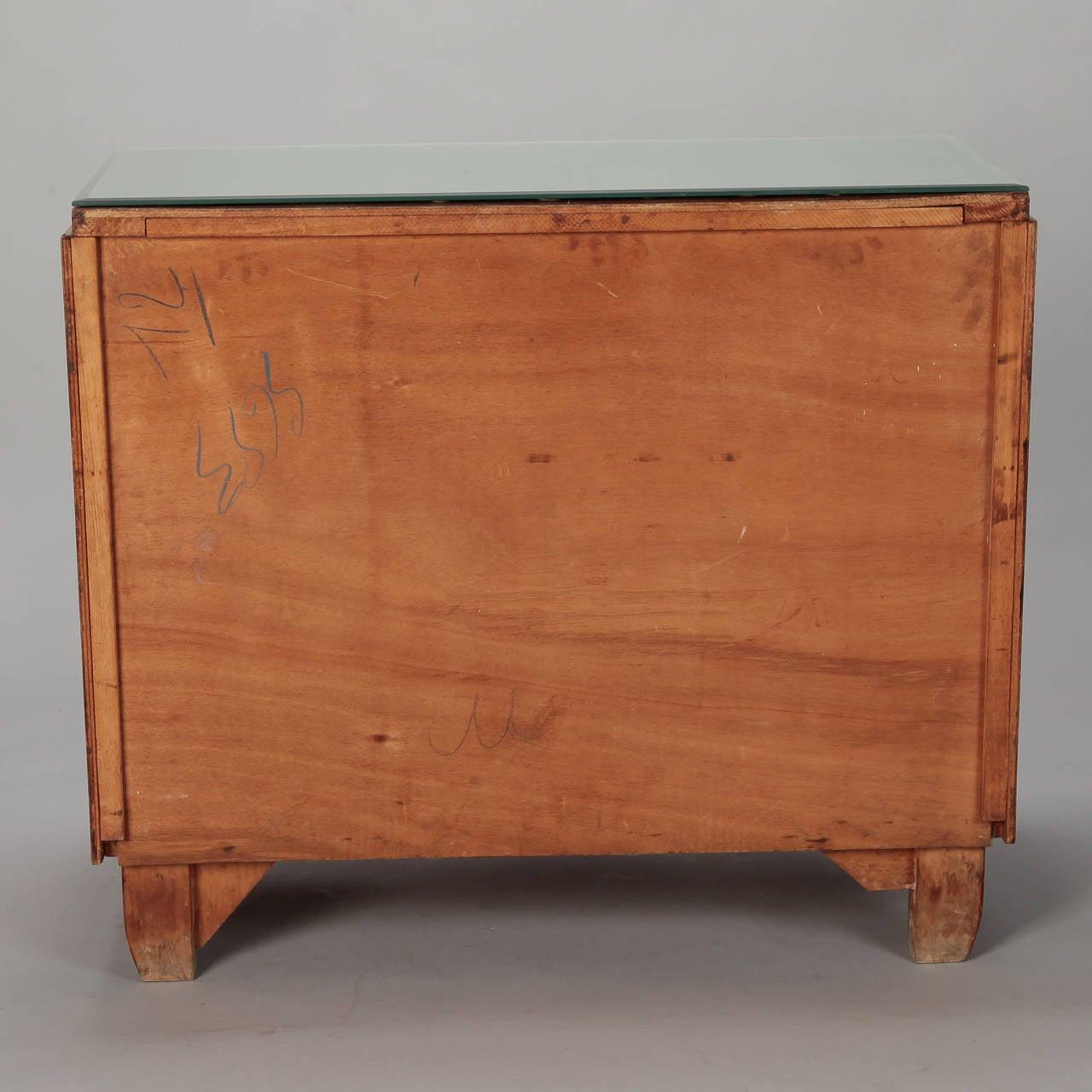 Art Deco Era Mirrored Walnut Chest of Drawers 3