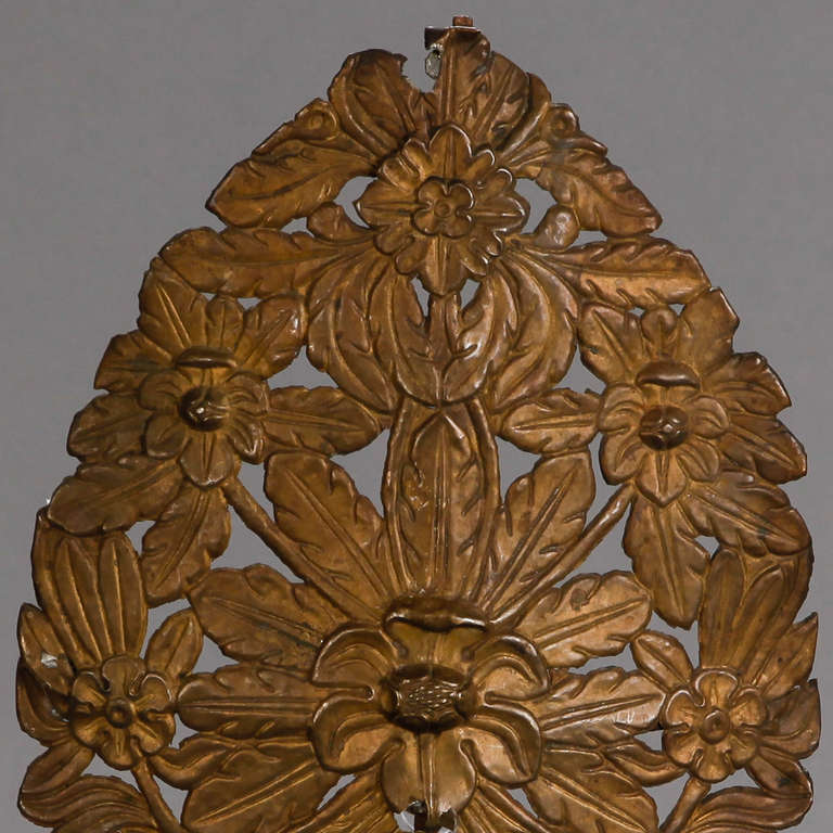 19th Century Italian Pressed Metal Piece On Stand At 1stdibs