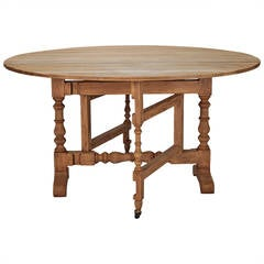 Bleached Oak English Drop-Leaf Table