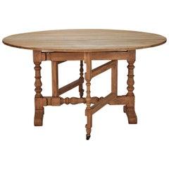Bleached Oak English Drop-Leaf Table