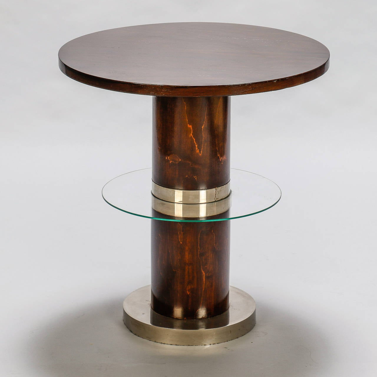 Deco Chrome Coffee Table: French Art Deco Macassar And Glass Table With Chrome Base