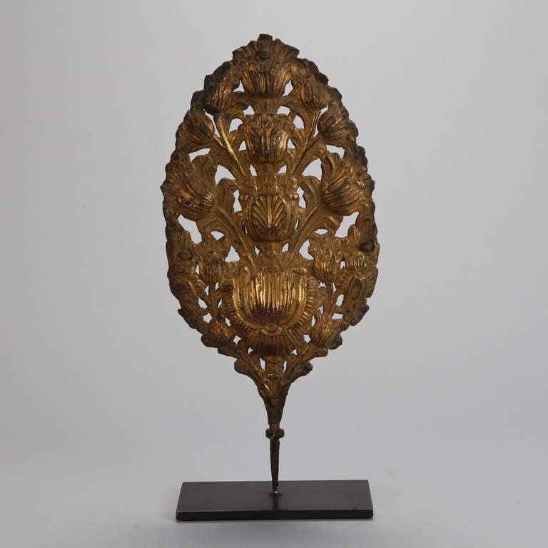 19th Century Italian Pressed Metal Piece On Stand For Sale At 1stdibs