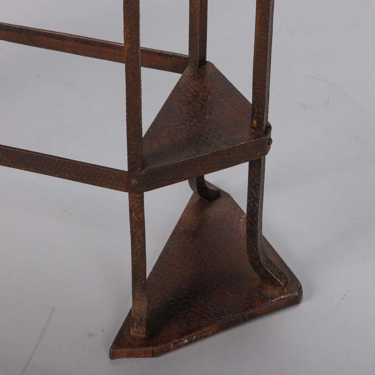 Arts and crafts bronze metal jardiniere at 1stdibs for Metal arts and crafts