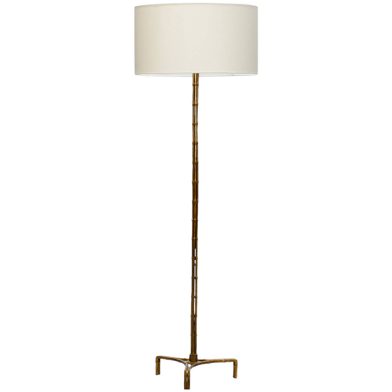 french mid century faux bamboo brass floor lamp at 1stdibs. Black Bedroom Furniture Sets. Home Design Ideas