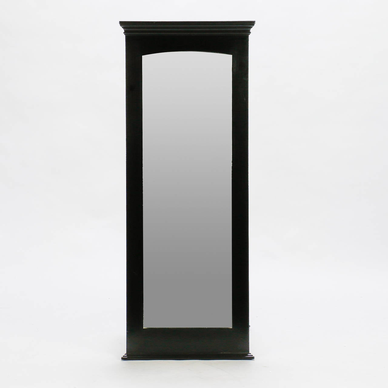 Pair midcentury tall narrow ebonised mirrors for sale at for Tall slim mirror