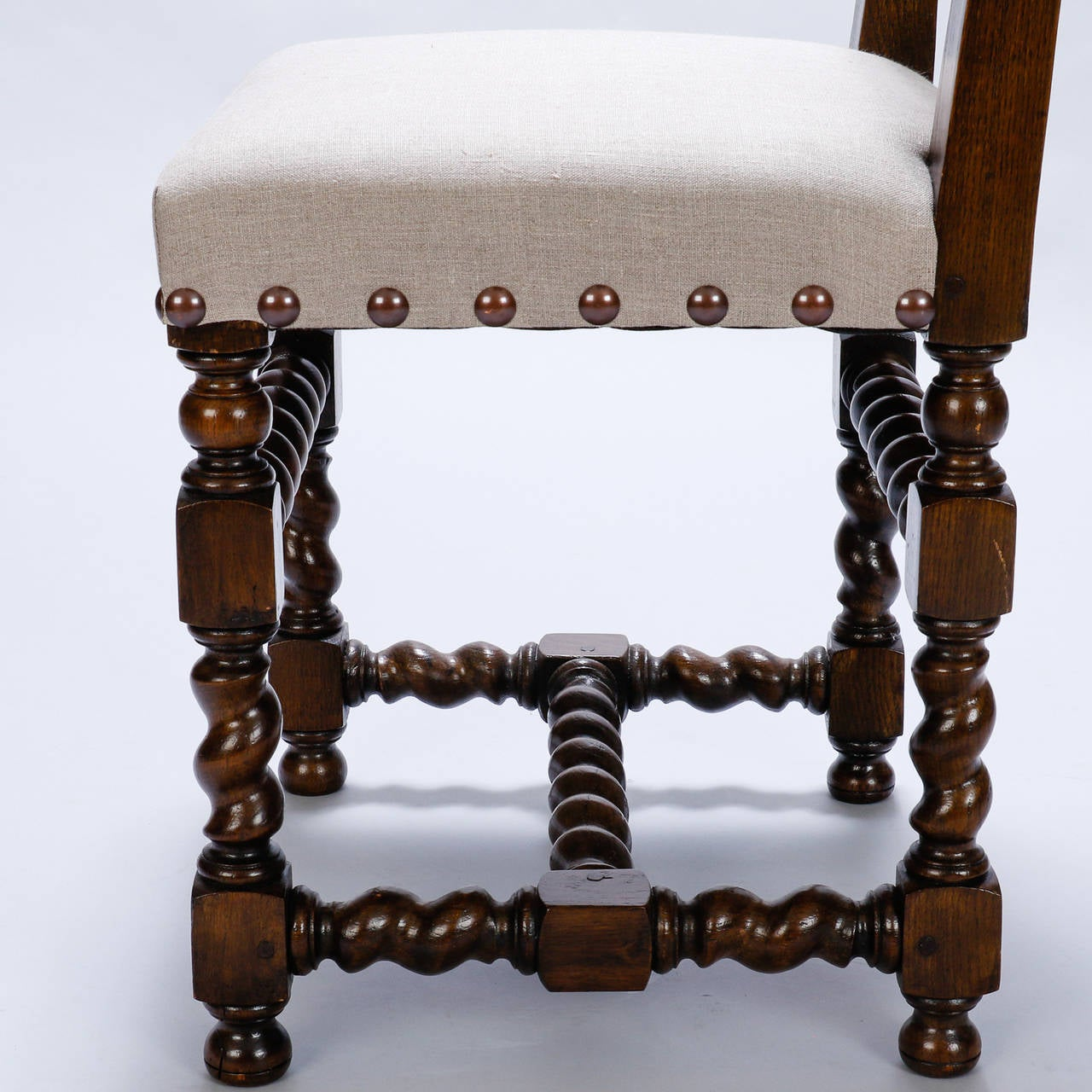 Set Of Eight Spanish 19th Century High Back Chairs With