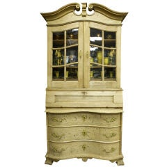 Dutch Bleached Oak Cupboard with Scrolled Top