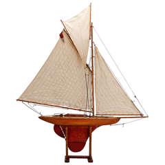 Large English Three Sail Pond Boat
