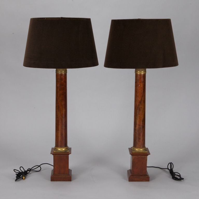 this pair tall french empire style wood lamps is no longer available. Black Bedroom Furniture Sets. Home Design Ideas