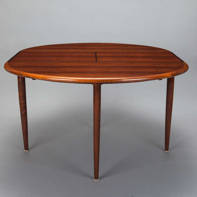 moller for j moller 15 rosewood table with butterfly leaf at 1stdibs