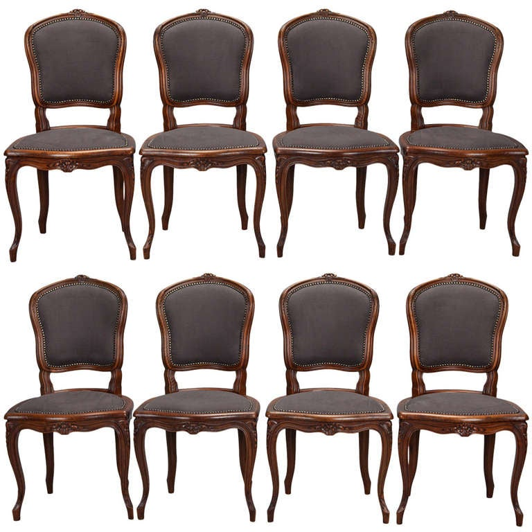 Set of Eight French Fruit Wood Dining Chairs at 1stdibs : 881151l from www.1stdibs.com size 768 x 768 jpeg 77kB