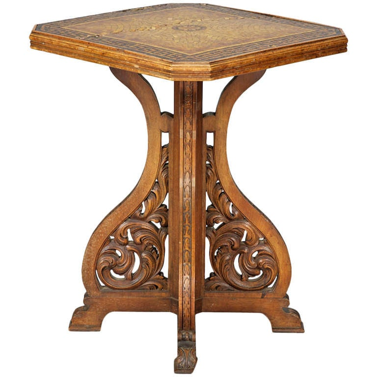 887057 for Arts and crafts side table