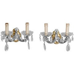 Pair of Two Arm, Maria Theresa Sconces