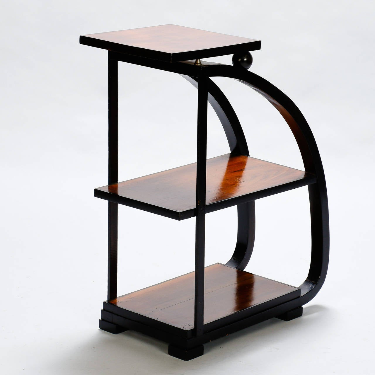 Narrow three tier art deco side table at 1stdibs for Narrow end table