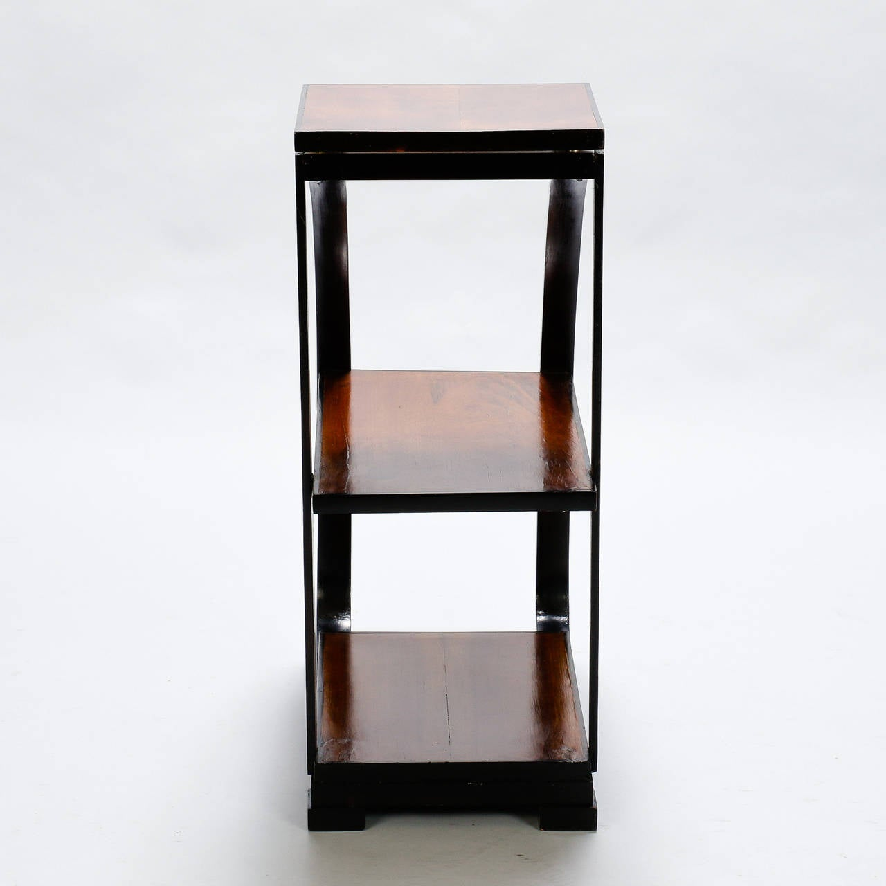 Narrow three tier art deco side table at 1stdibs for Narrow side table