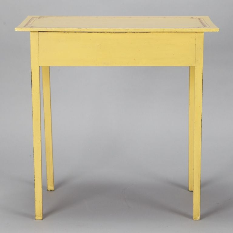 French yellow painted side table at 1stdibs for Yellow painted table